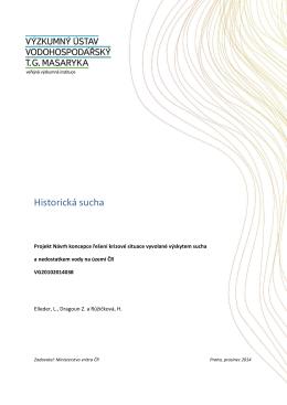 Historická sucha - Úvod - Výzkumný ústav vodohospodářský