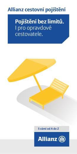 Leták – cestovní pojištění PDF soubor