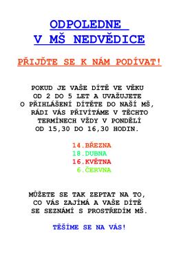 pozvánka - ZŠ a MŠ NEDVĚDICE