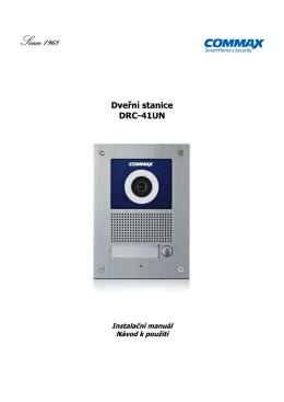 DRC-41UN manuál - Domovní telefony a videotelefony