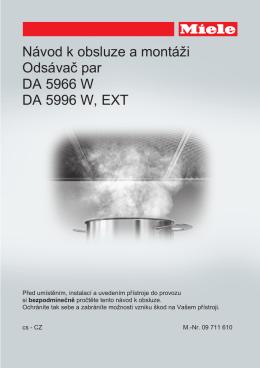 Návod k obsluze a montáži Odsávač par DA 5966 W