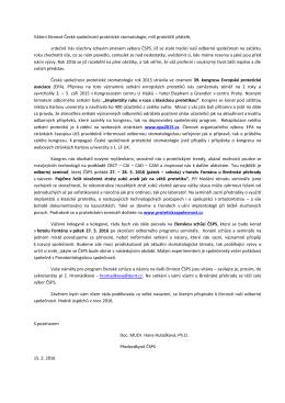 Dopis členům 2016 - Česká společnost protetické stomatologie