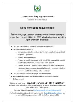 Koncepce ZS_Uvaly – pozvanka na diskusi