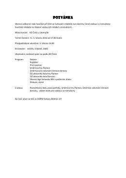 pozvánka - OSH Svitavy