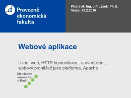 Webový prohlížeč jako platforma