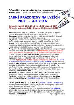 Letáček - DDM Kyjov
