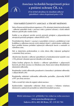 Asociace techniků bezpečnosti práce a požární ochrany ČR, z.s.