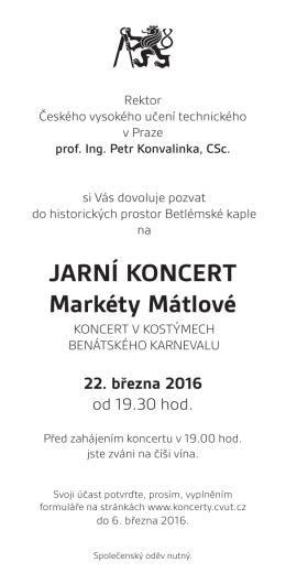 JARNÍ KONCERT Markéty Mátlové