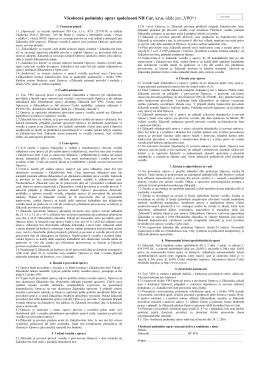 """Všeobecné podmínky oprav společnosti NH Car, sro (dále jen """"VPO"""")"""