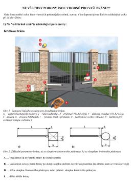 Jak vybrat pohon pro křídlovou bránu