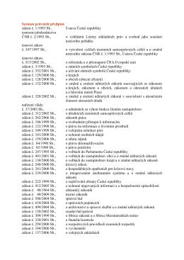 Seznam právních předpisů