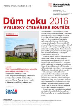Dům roku 2016 - Stavbaweb.cz