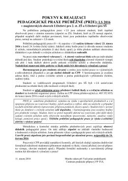 pokyny k realizaci pedagogické praxe průběžné (pr2e)