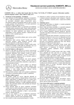 Všeobecné servisní podmínky pdf 350 kB - SAMOHÝL MB a.s.