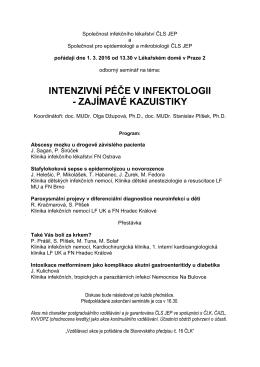 Program - Společnost infekčního lékařství ČLS