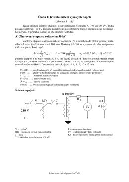 Úloha 1: Kvalita měření vysokých napětí A) Zhotovení