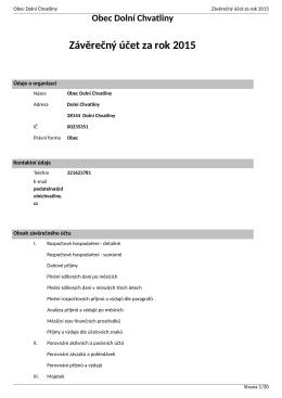 Závěrečný účet za rok 2015 - Informační server obce Dolní Chvatliny