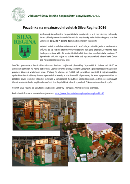 Pozvánka na SR 2016 - Výzkumný ústav lesního hospodářství a