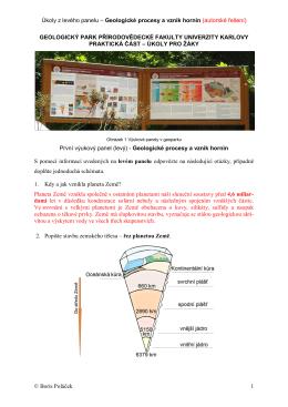 řešení - Geologický park