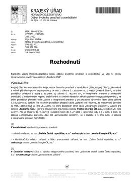 02-Rozhodnutí - 9.zm TČA - Ministerstvo životního prostředí