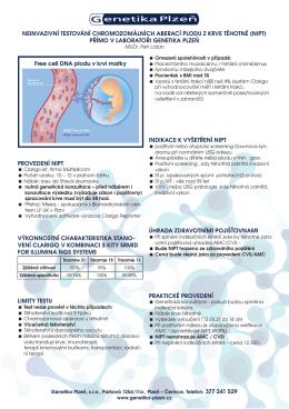 více informací o testování NIPT