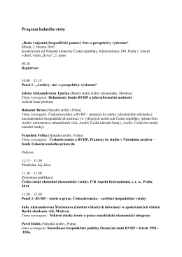 Program cz - Historický ústav akademie věd České republiky