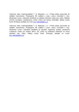 Výzkumný ústav vodohospodářský T. G. Masaryka, v.v.i. v Praze