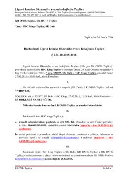 LK-10 - OSHb Teplice