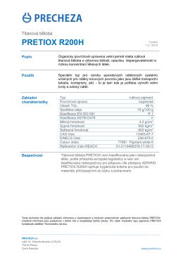 pretiox r200h - PRECHEZA as