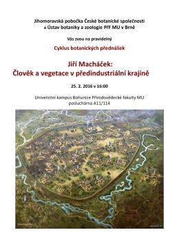 Jiří Macháček: Člověk a vegetace v