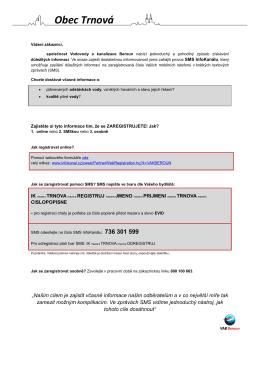 Trnová - Informační leták - Vodovody a kanalizace Beroun, a.s.