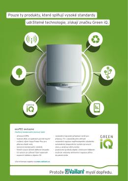 prospekty leták ecoTEC exclusive Green iQ Velikost 910