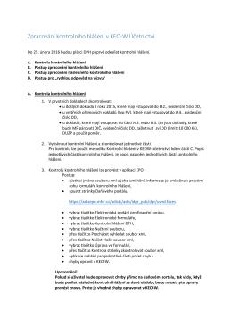 Zpracování kontrolního hlášení v KEO‐W Účetnictví