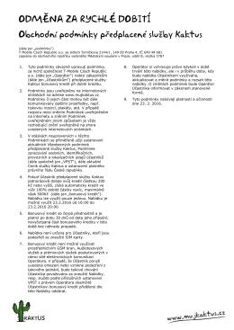 Celé podmínky v PDF