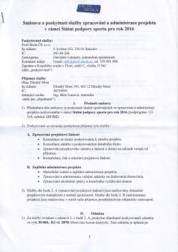 Smlouva o poskytnutí služby - Profi škola