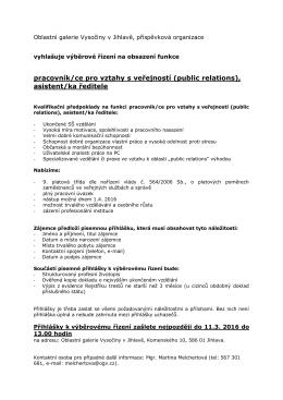 pracovník/ce pro vztahy s veřejností (public relations), asistent/ka
