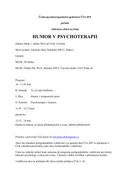humor v psychoterapii