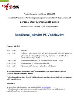 Pozvánka a program
