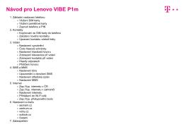 Lenovo VIBE P1m - T