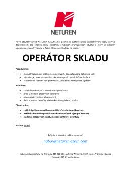 operátor skladu