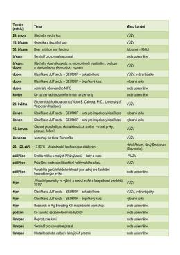 Plán seminářů 2016