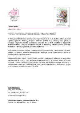 VNITŘNÍ OBRAZ V KRUHU - Středočeská vědecká knihovna v Kladně