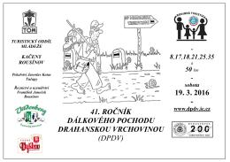 propozice 2016 - Dálkový pochod Drahanskou vrchovinou