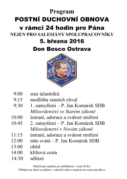 Program DO 15 - Don Bosco Ostrava