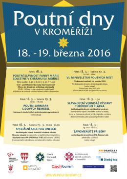 18. -19. března 2016 - Poutní dny v Kroměříži