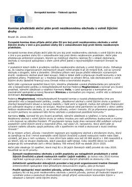 Komise předkládá akční plán proti nezákonnému obchodu