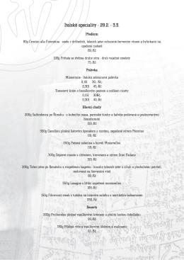 Italské speciality - 29.2. - 3.3.
