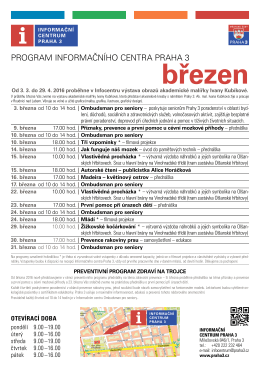Program IC březen