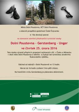 Dolní Poustevna – Gerstenberg – Unger
