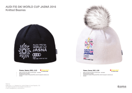 AUDI FIS SKI WORLD CUP JASNÁ 2016 Knitted Beanies